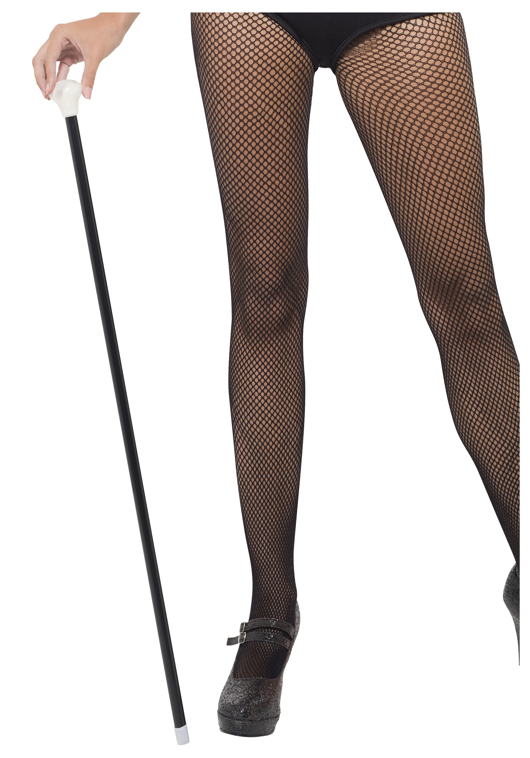 20S STYLE BLACK DANCE CANE walking theatrical ringmaster