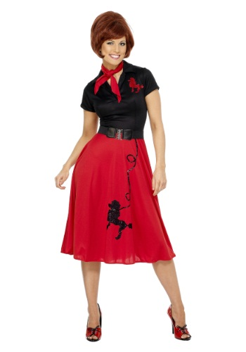 [Women's Plus Size 50s-Style Poodle Skirt Costume] (Poodle Skirt Costume Plus Size)