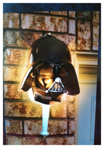 Darth Vader Porch Light Cover By: Seasons USA Inc. for the 2015 Costume season.