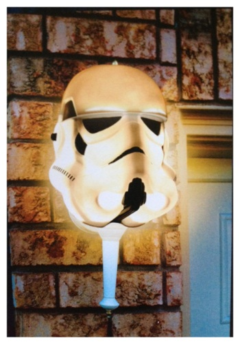 Stormtrooper Porch Light Cover By: Seasons USA Inc. for the 2015 Costume season.