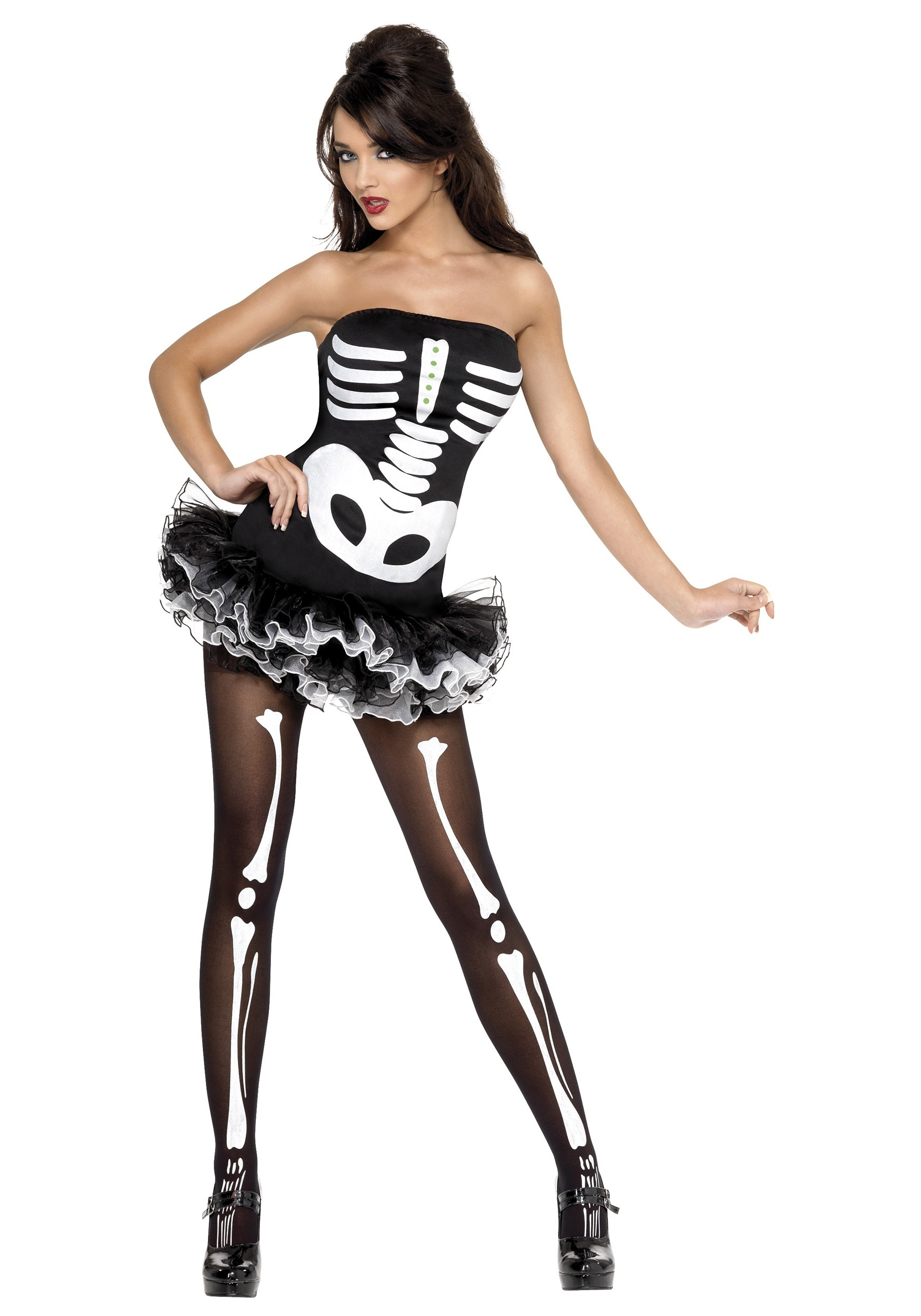 Womens Plus Size Sexy Skeleton Costume