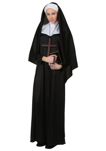 Click Here to buy Plus Size Traditional Nun Costume from HalloweenCostumes, USA Funds & Shipping
