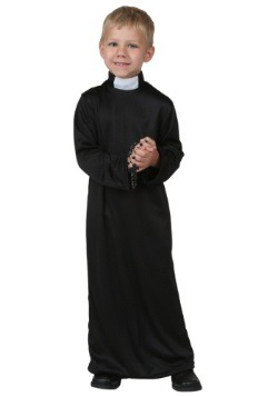 Priest Halloween Costume With Little Boy
