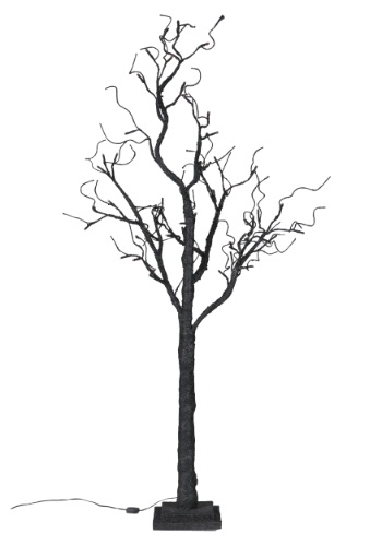 Twig Tree with Orange Lights 51""