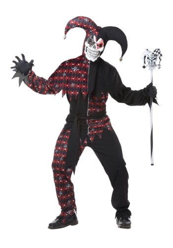 Click Here to buy Adult Sinister Jester Costume from HalloweenCostumes, USA Funds & Shipping