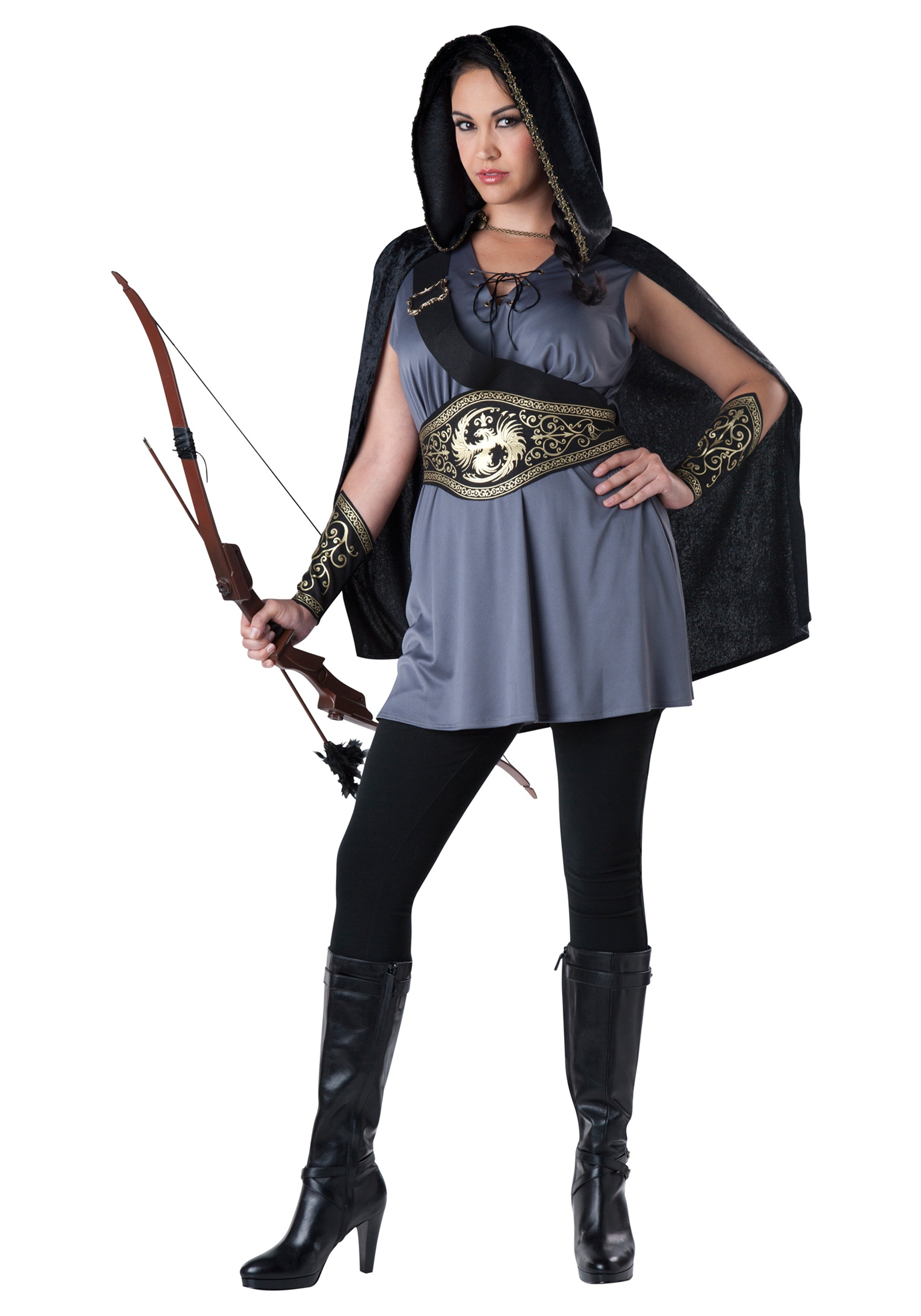 Womens Plus Size Huntress Costume  sc 1 st  Halloween Costumes & Womenu0027s Plus Size Huntress Costume 2X 3X