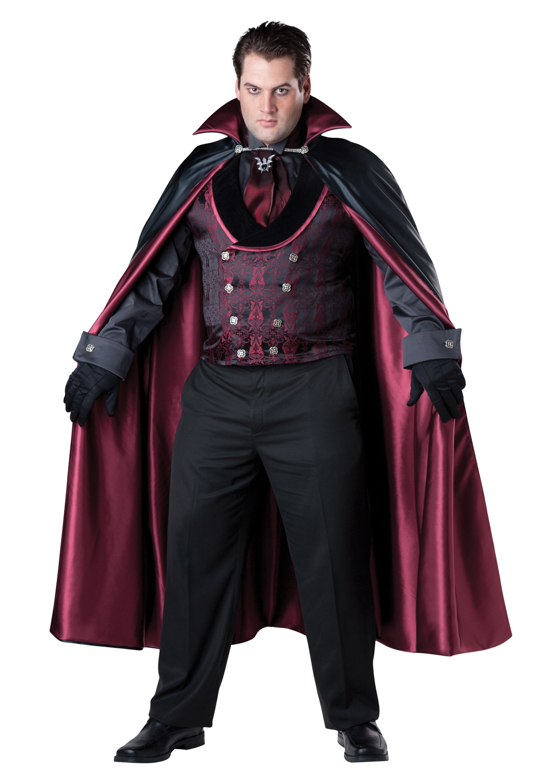 men 39 s plus size midnight vampire costume. Black Bedroom Furniture Sets. Home Design Ideas