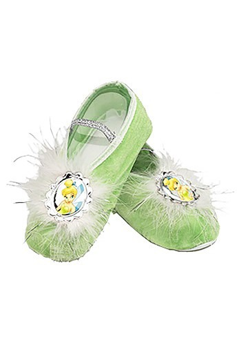 Click Here to buy Kids Tinkerbell Ballet Slippers from HalloweenCostumes, CDN Funds