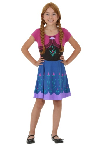 Click Here to buy Frozen Tween I am Anna Costume Dress from HalloweenCostumes, CDN Funds