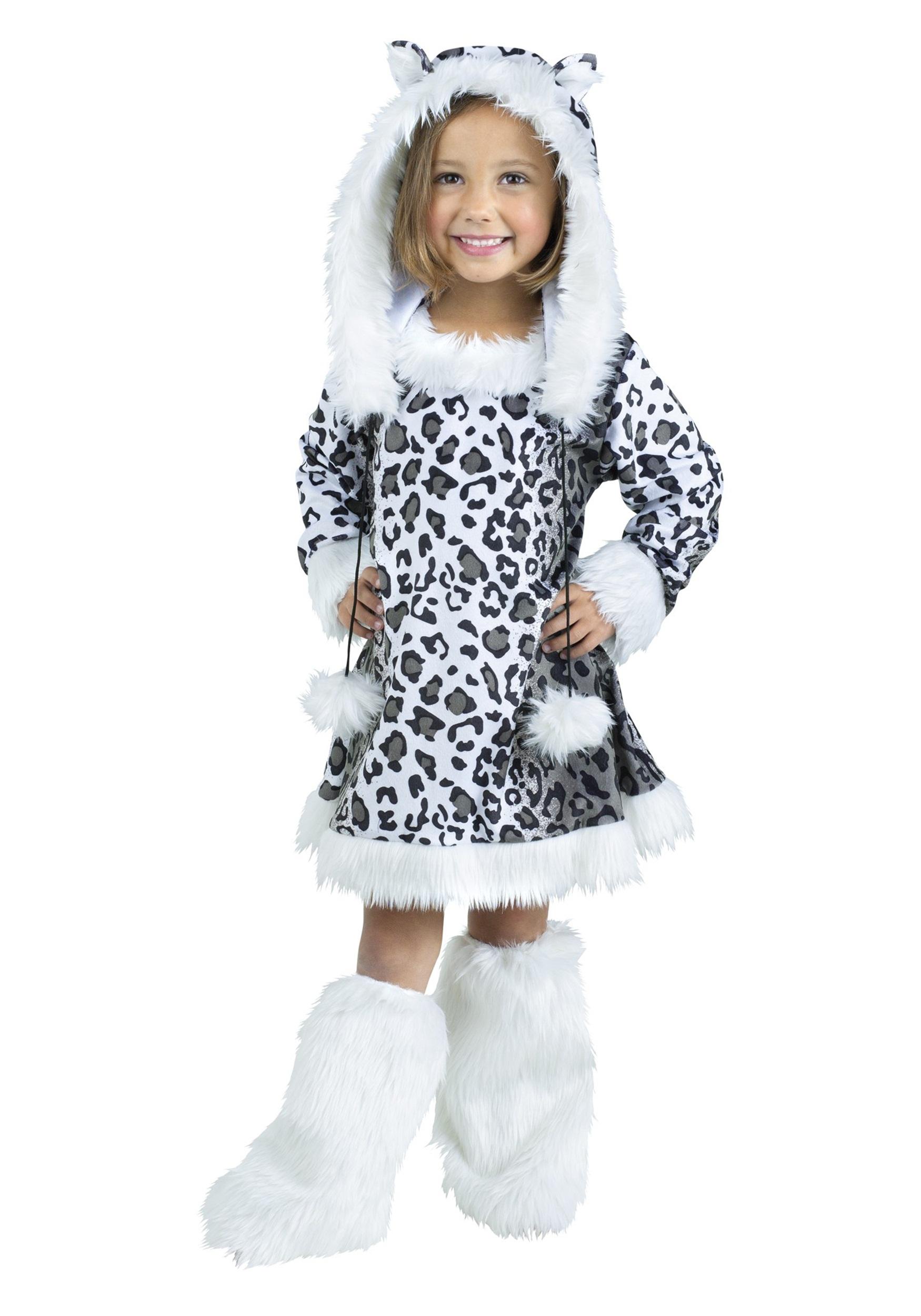 Toddler Child Snow Leopard Costume