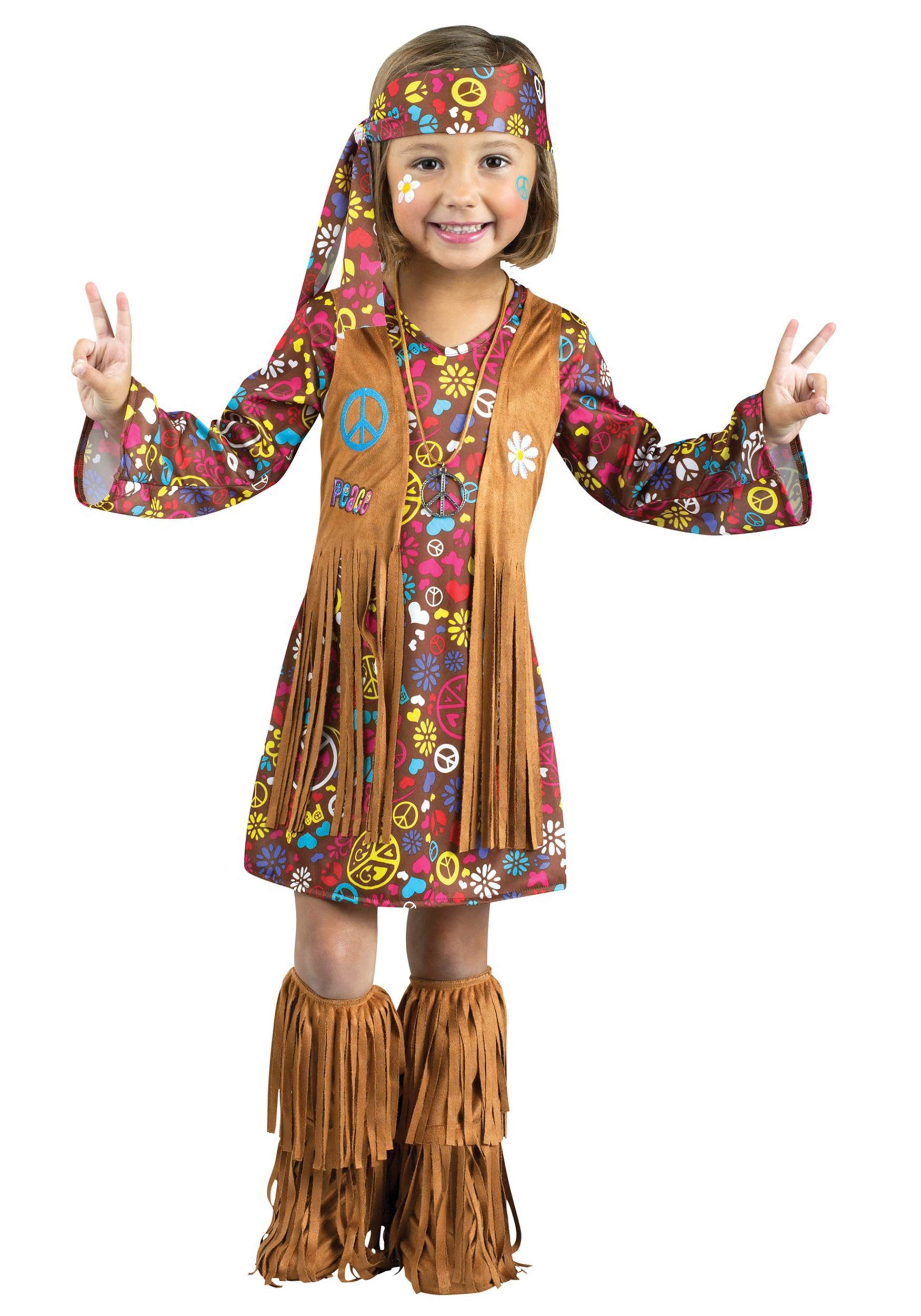 Http Www Halloweencostumes Com Toddler Peace Love Hippie Costume Html