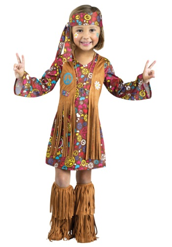 Toddler Peace & Love Hippie Costume for Girls