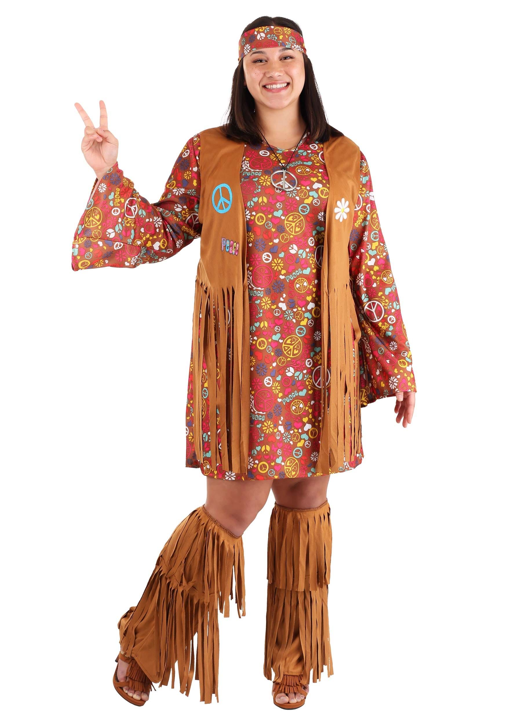 Peace u0026 Love Plus Size Costume  sc 1 st  Halloween Costumes : hippie costume for boy  - Germanpascual.Com