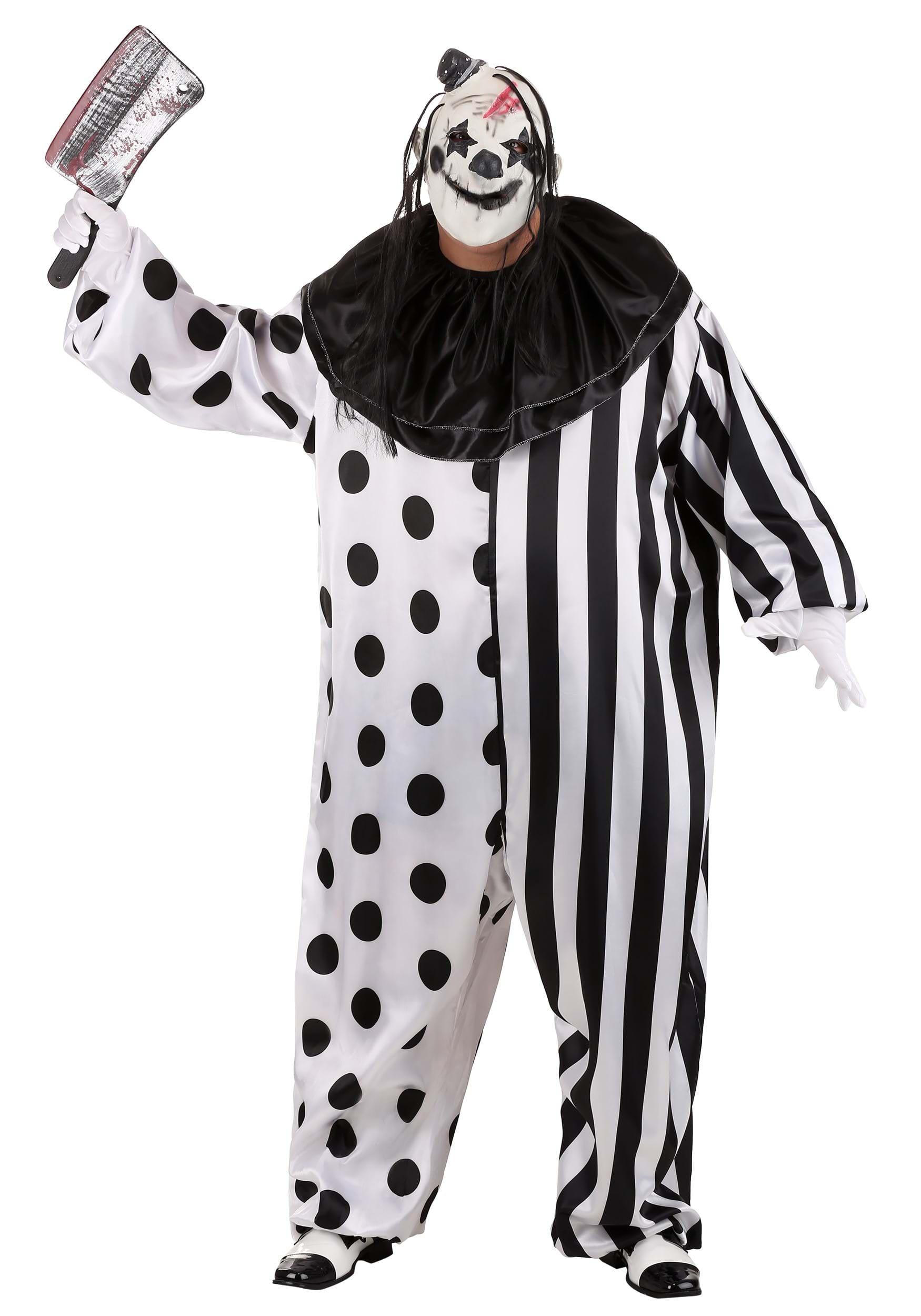 killer clown plus size costume. Black Bedroom Furniture Sets. Home Design Ideas
