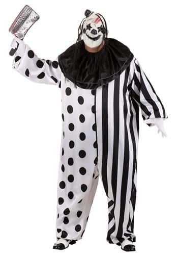 Click Here to buy Killer Clown Plus Size Costume 1X from HalloweenCostumes, CDN Funds