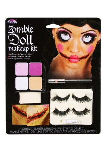Zombie Doll Makeup By: Fun World for the 2015 Costume season.