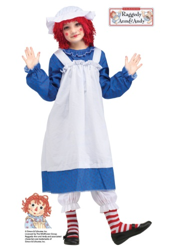 Click Here to buy Raggedy Ann Classic Kids Costume from HalloweenCostumes, CDN Funds