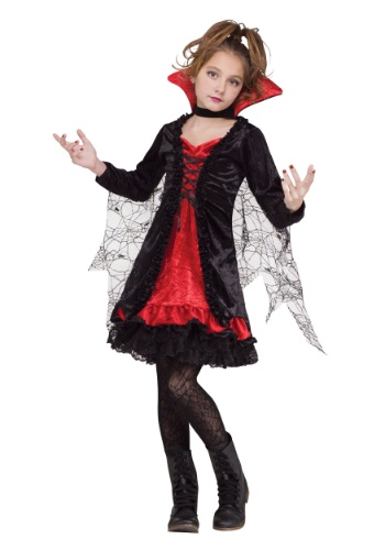 Click Here to buy Vampire Girl Kids Costume from HalloweenCostumes, CDN Funds