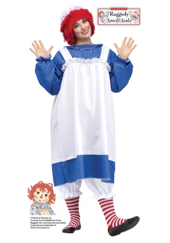 Click Here to buy Raggedy Ann Plus Size Adult Costume from HalloweenCostumes, CDN Funds