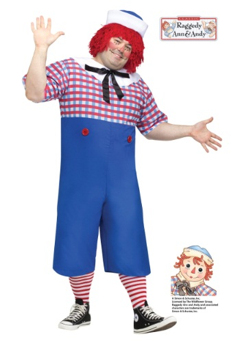 Click Here to buy Raggedy Andy Plus Size Adult Costume 1X from HalloweenCostumes, CDN Funds