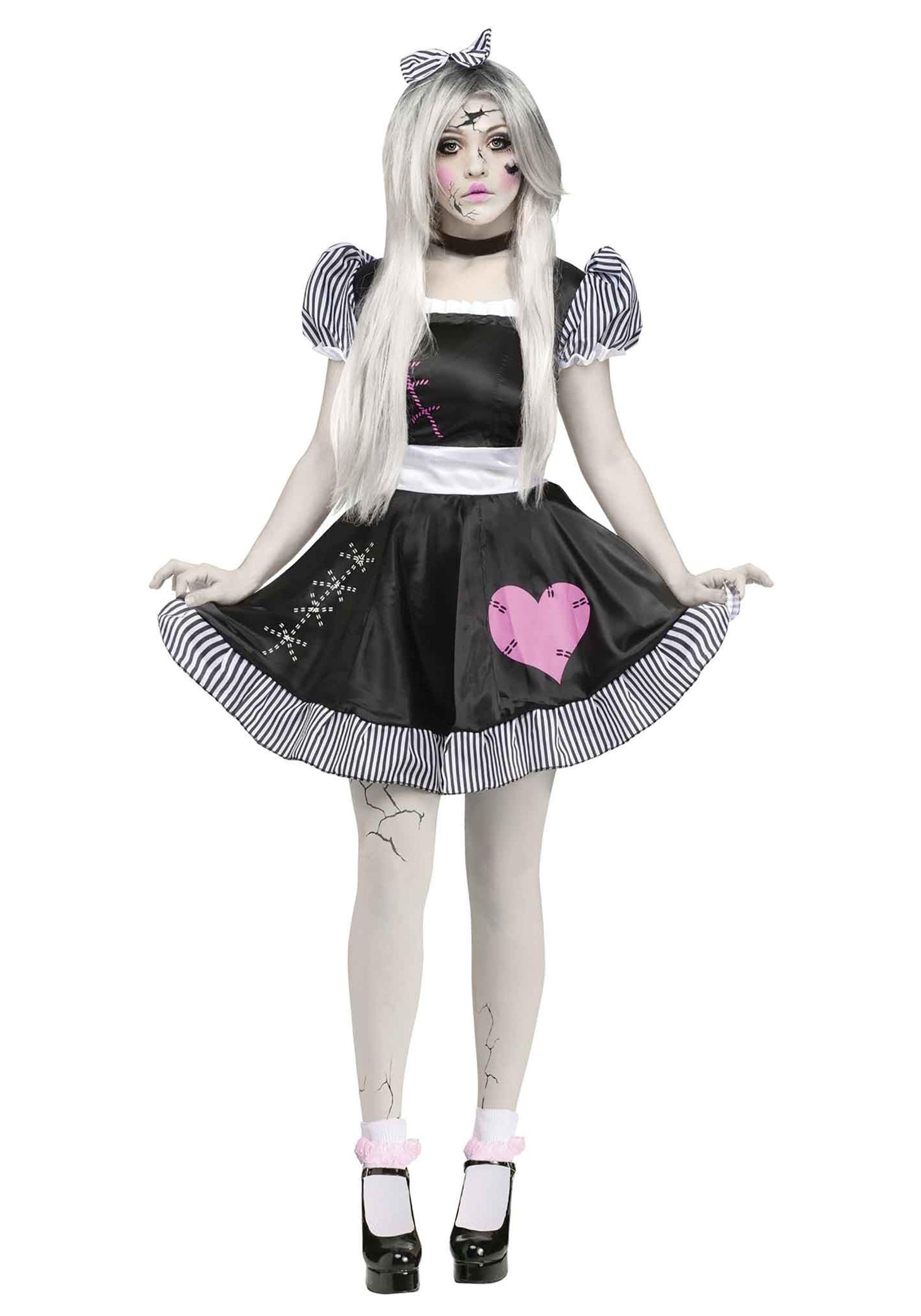 broken doll adult costume