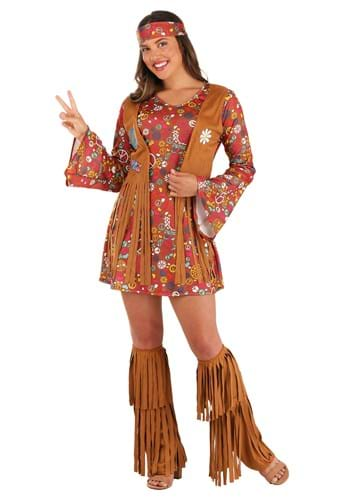 Click Here to buy Peace & Love Hippie Adult Costume from HalloweenCostumes, CDN Funds