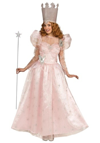 Click Here to buy Deluxe Wizard of Oz Glinda the Good Witch Plus Size Womens Costume 2X 3X from HalloweenCostumes, CDN Funds