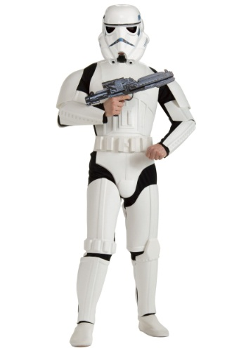 Click Here to buy Adult Deluxe Plus Size Stormtrooper Costume from HalloweenCostumes, USA Funds & Shipping