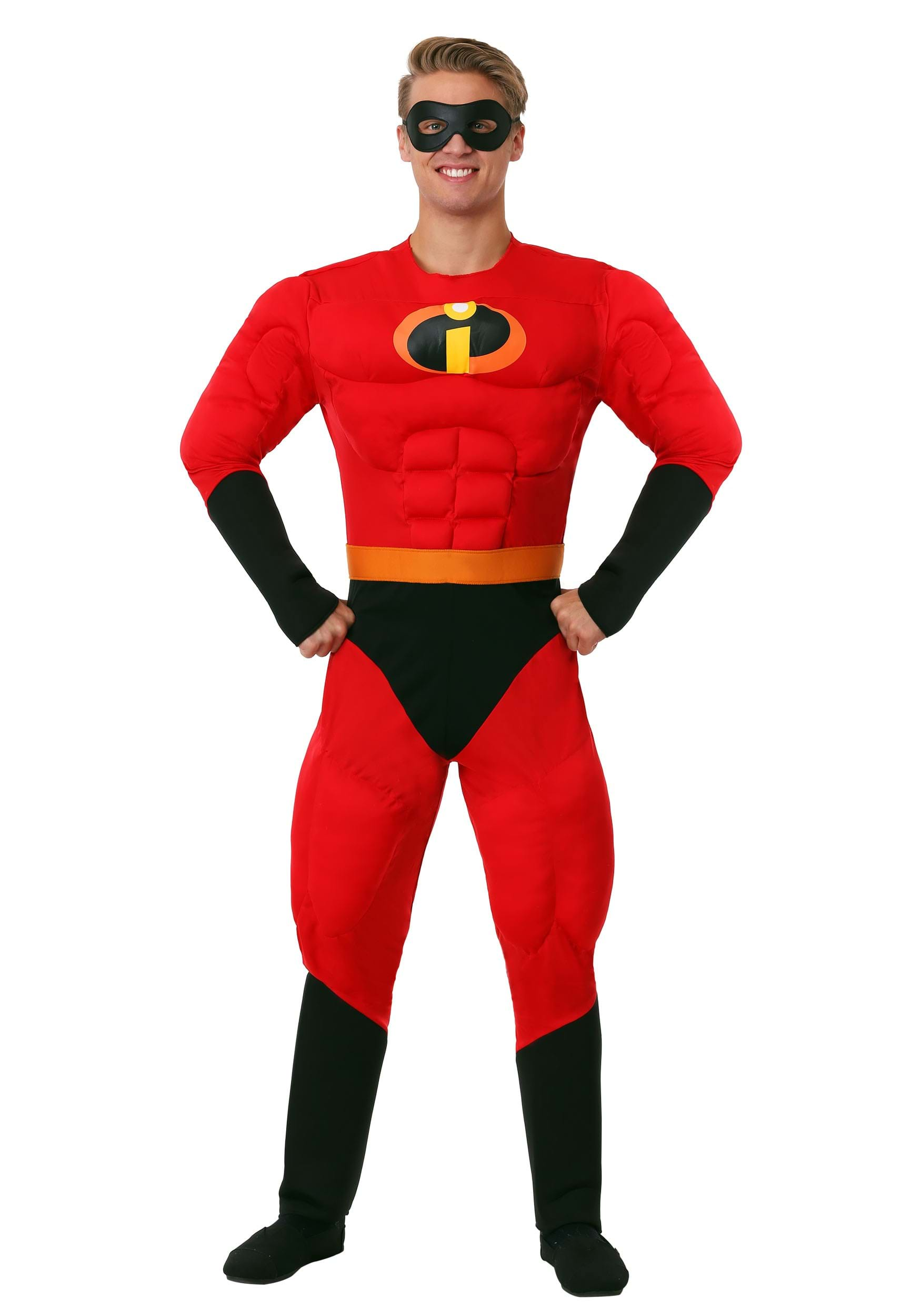 Mr. Incredible Deluxe Muscle Plus Size Costume  sc 1 st  Halloween Costumes & Incredibles Costumes For Kids u0026 Adults