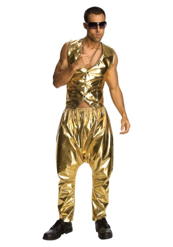 Mens Gold MC Hammer Pants