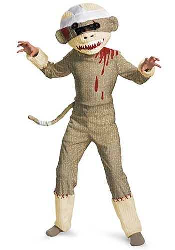 Kids Zombie Sock Monkey Costume By: Disguise for the 2015 Costume season.
