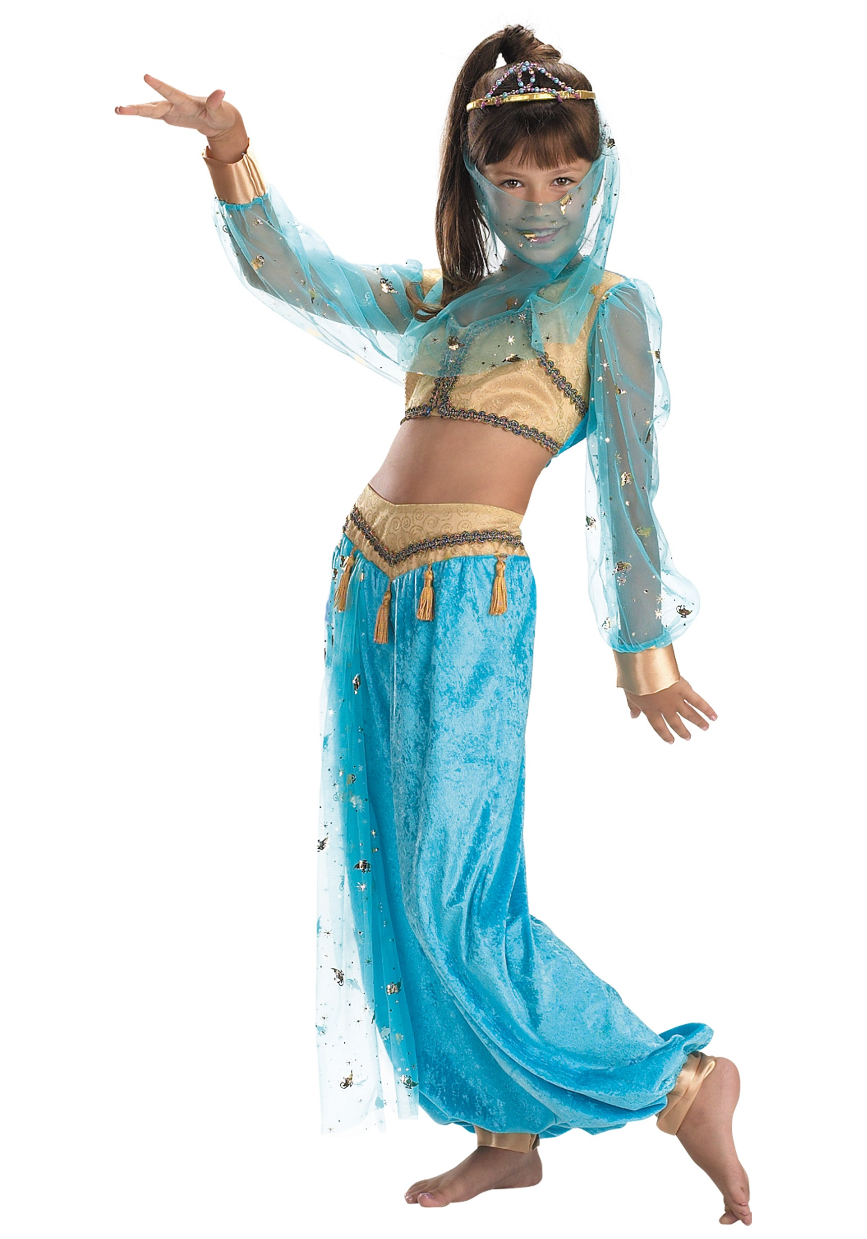 Child mystical genie costume for Cool halloween costumes for kids girls