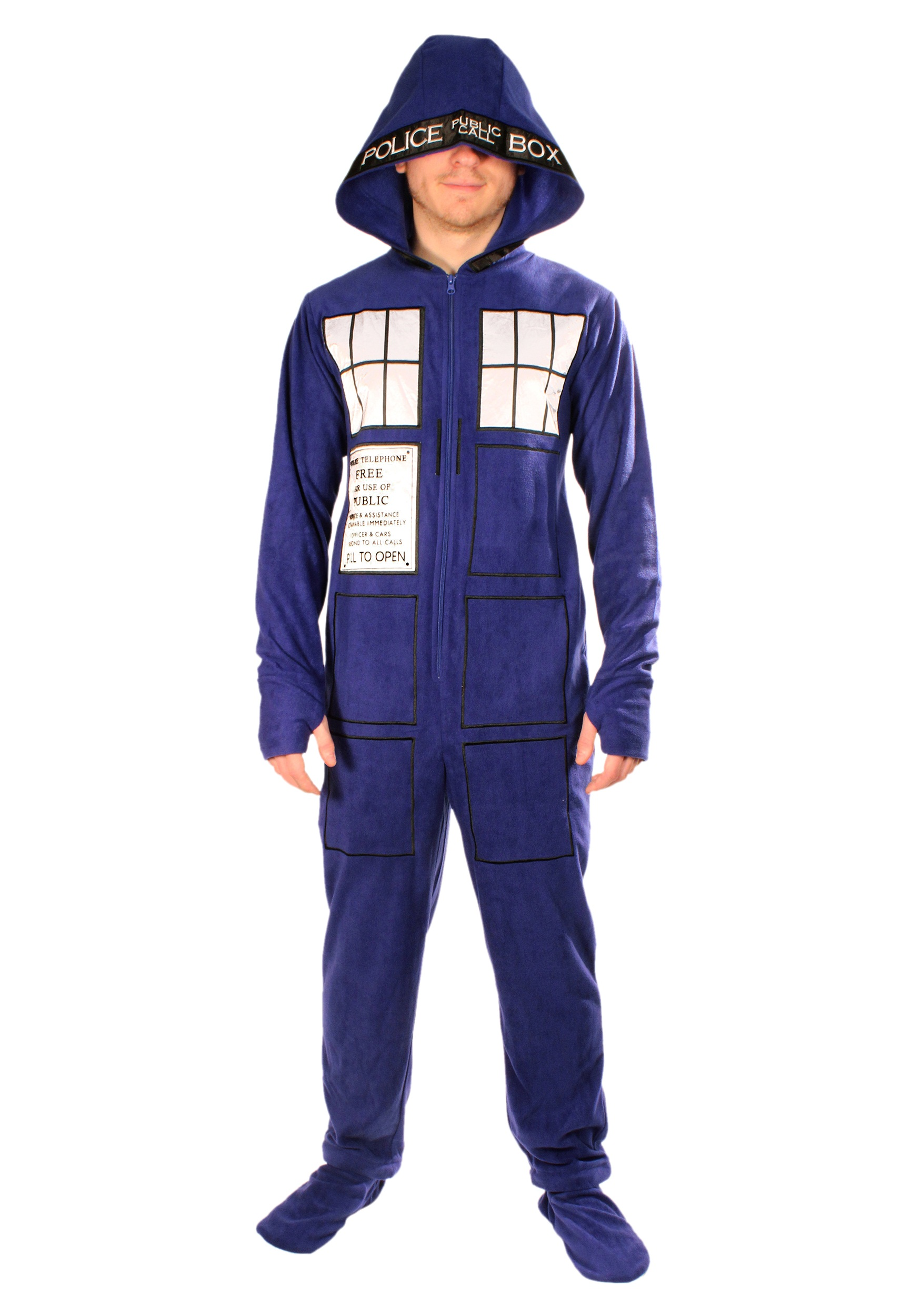Doctor Who Tardis Union Suit  sc 1 st  Halloween Costumes & Doctor Who: Adult TARDIS Pajamas