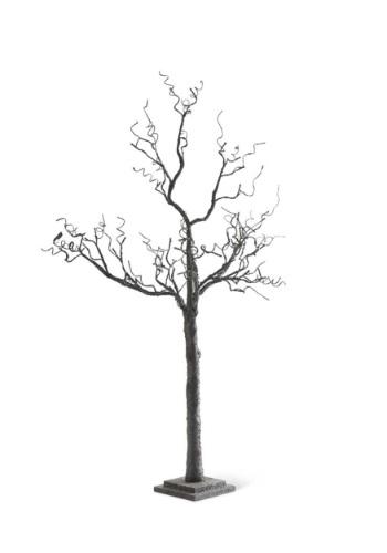 "70"" Black Tree w/ Glitter & 72 LED Lights"