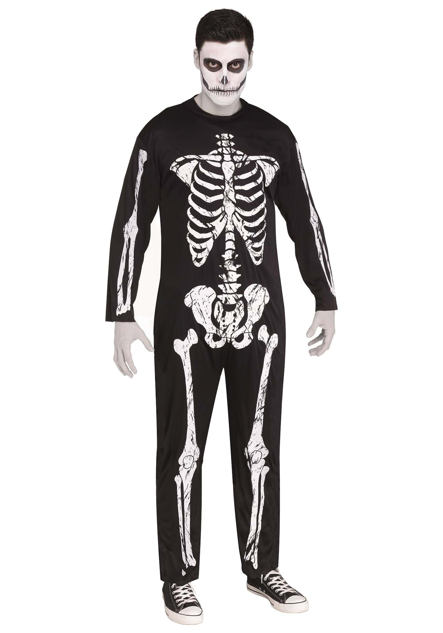 Plus Size Scary Skeleton Costume 2X 3X 4X