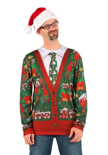 Men's Ugly Christmas Cardigan Shirt