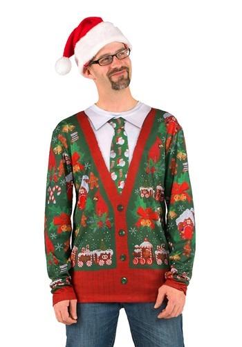 Mens Ugly Christmas Cardigan Shirt