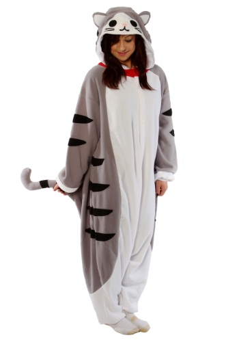 Click Here to buy Adult Tabby Cat Pajama Costume from HalloweenCostumes, USA Funds & Shipping