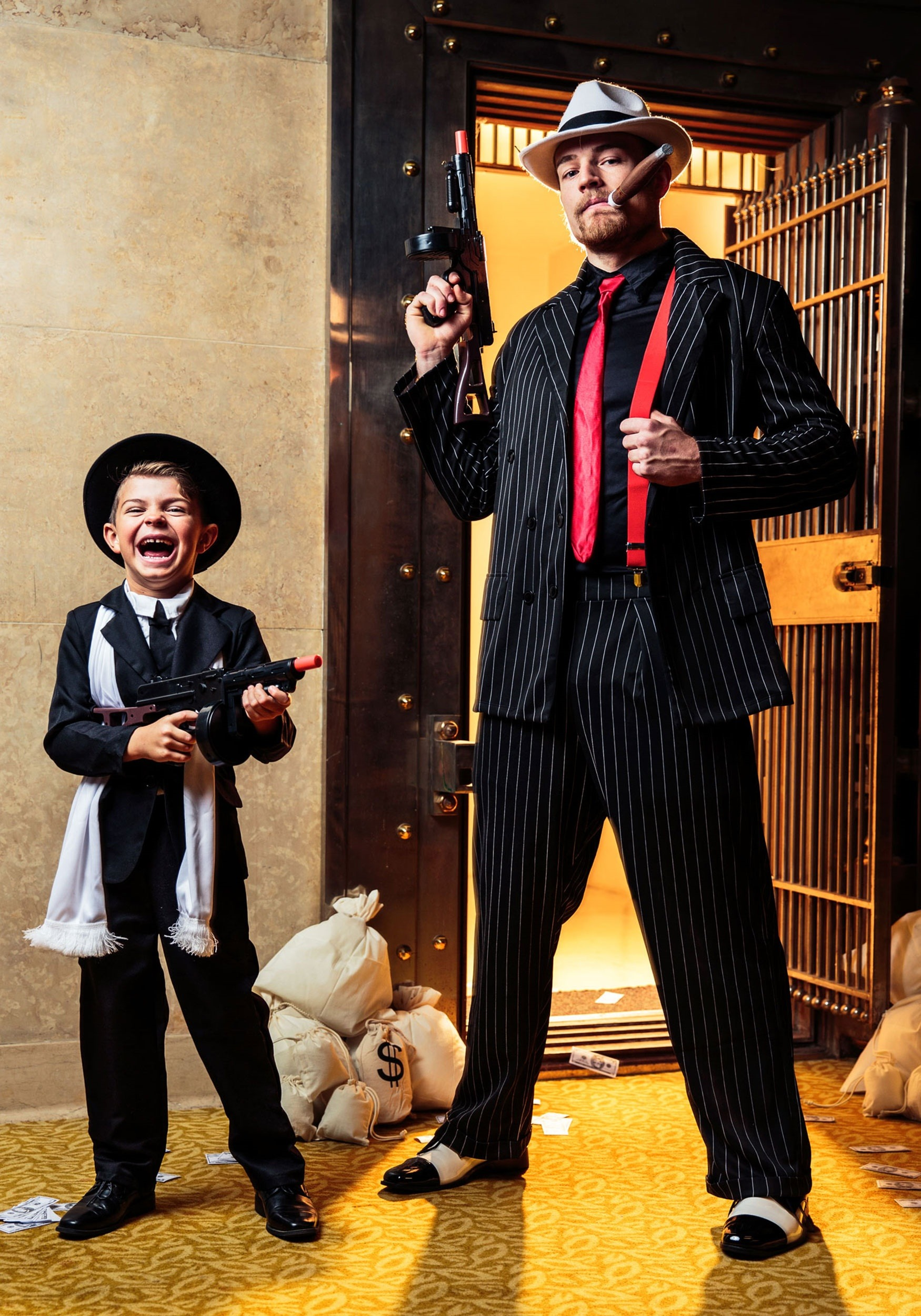Kids Black Suit Costume