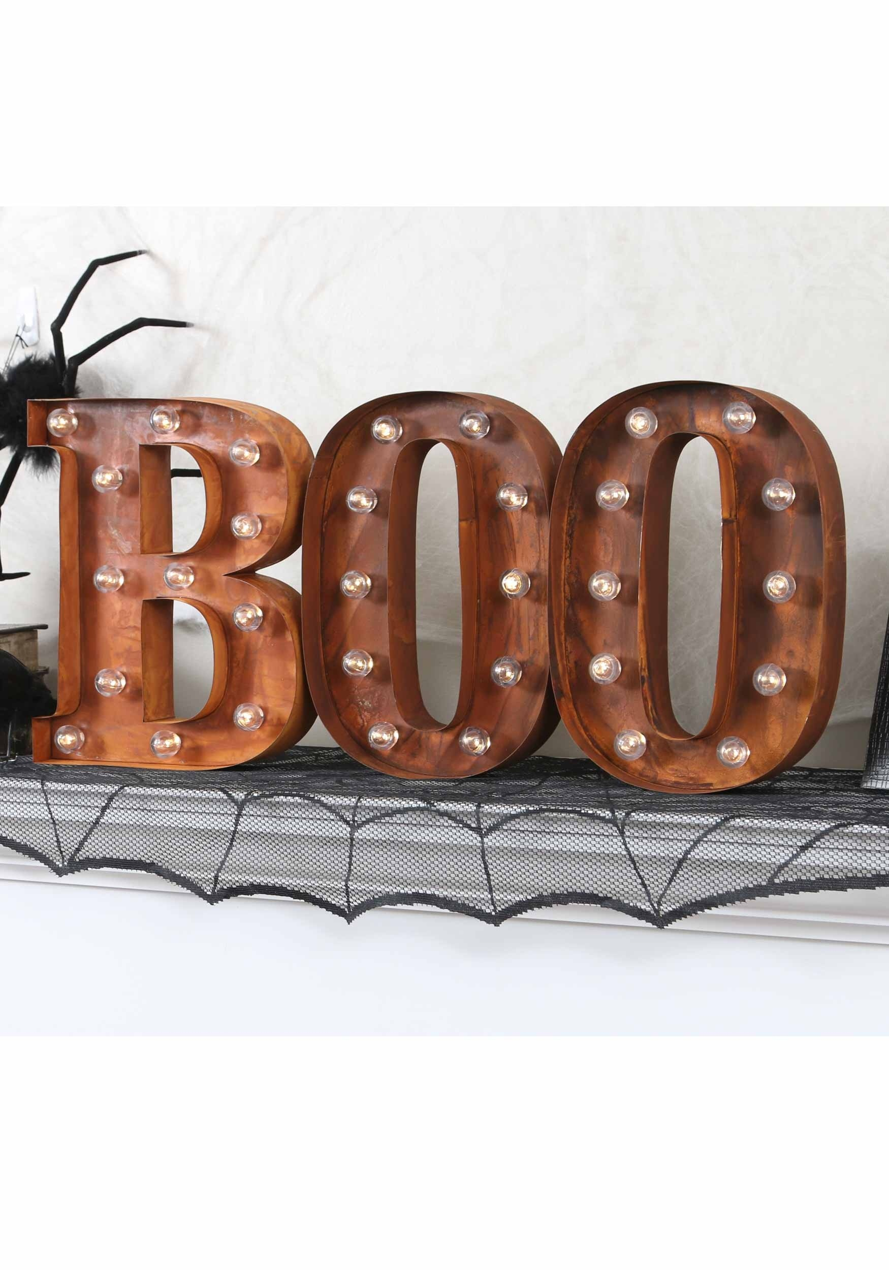 lighted letter signs lighted boo sign 23445 | lighted boo sign letter b