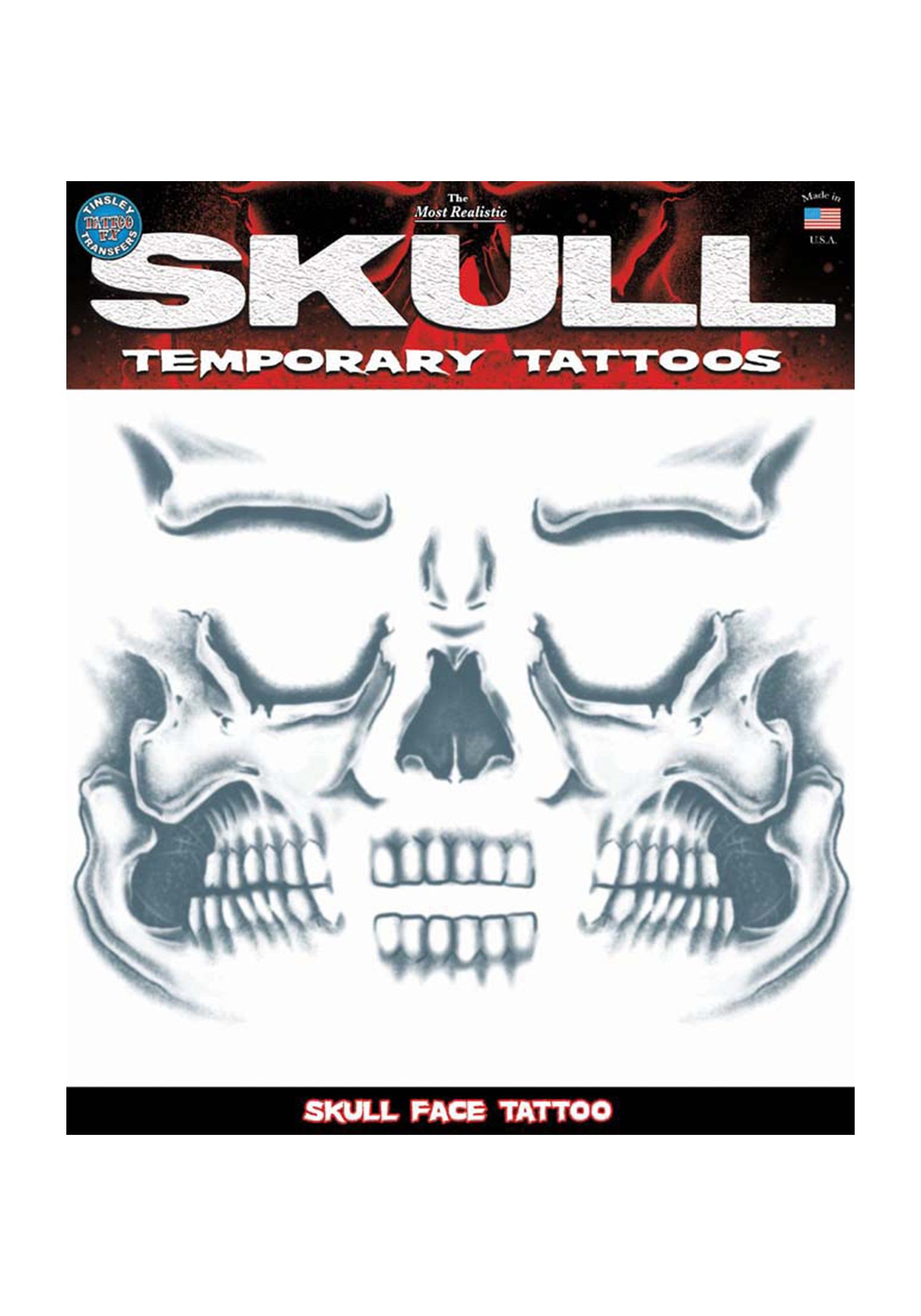 Skull Face Temporary Tattoo TYCT411