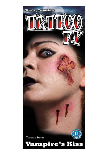 Click Here to buy Vampires Kiss Temporary Tattoo Kit from HalloweenCostumes, CDN Funds