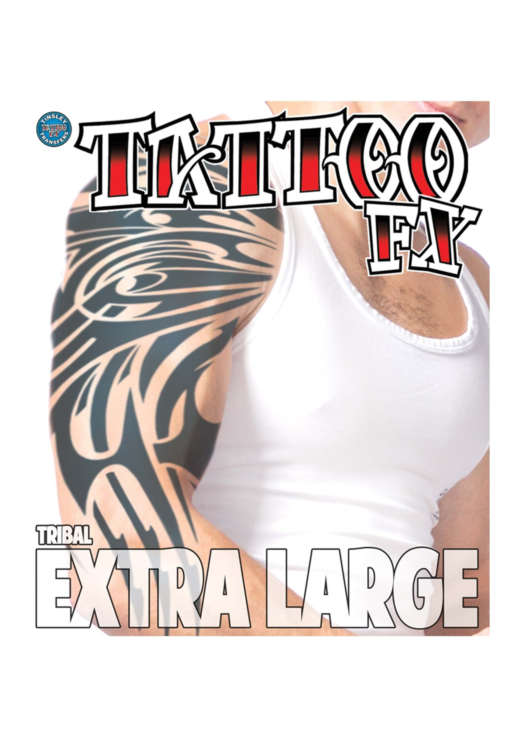 Extra large tribal temporary tattoo for Large letter temporary tattoos