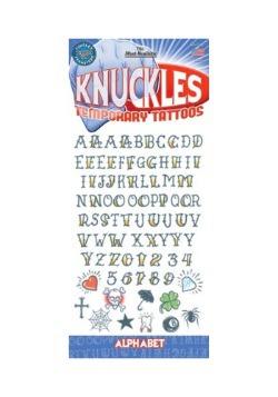 Knuckle Alphabet Temporary Tattoos