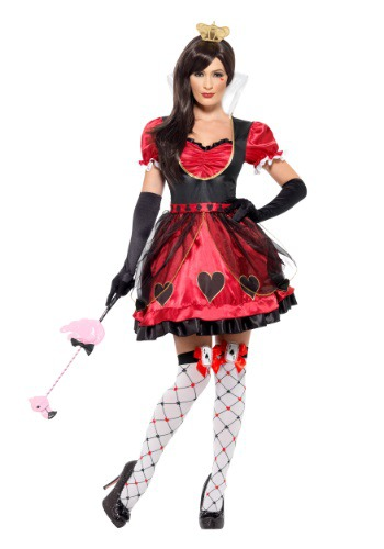 Womens Queen of Wonderland Costume