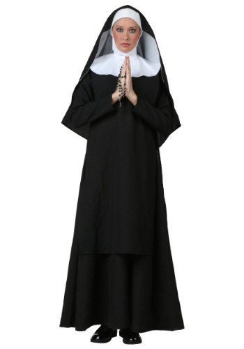 Click Here to buy Plus Size Deluxe Nun Costume from HalloweenCostumes, USA Funds & Shipping