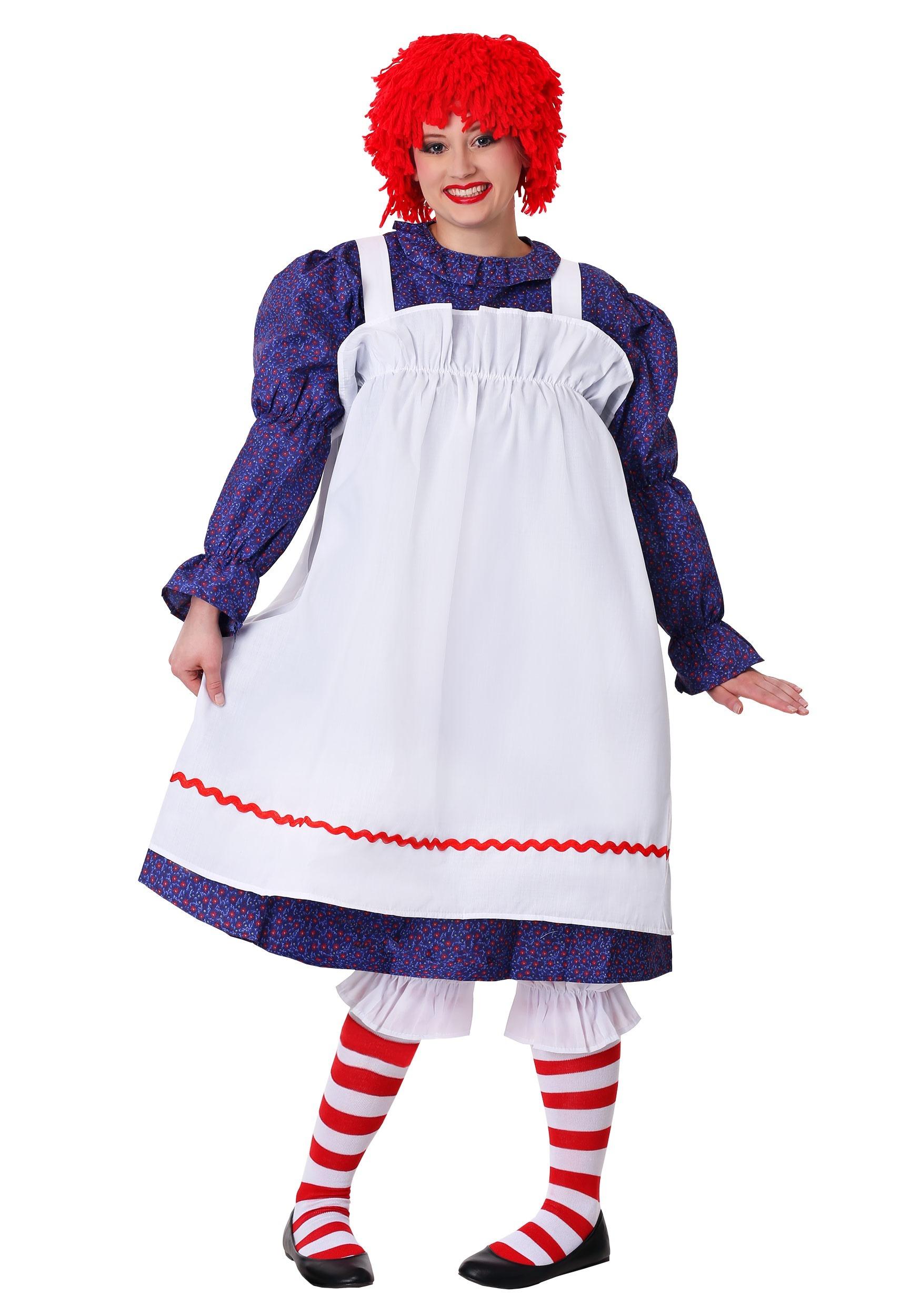 Red White Striped Socks Rag Doll Christmas Halloween Child Costume Accessory
