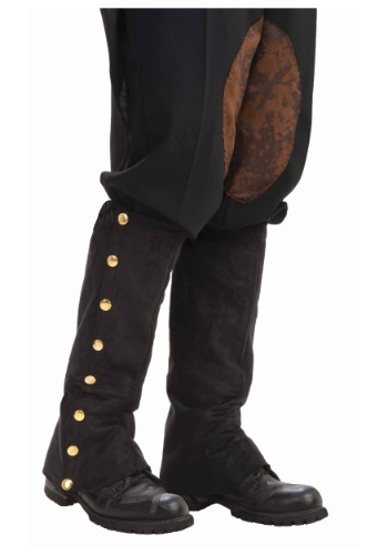 Steampunk Black Suede Spats By: Forum Novelties, Inc for the 2015 Costume season.