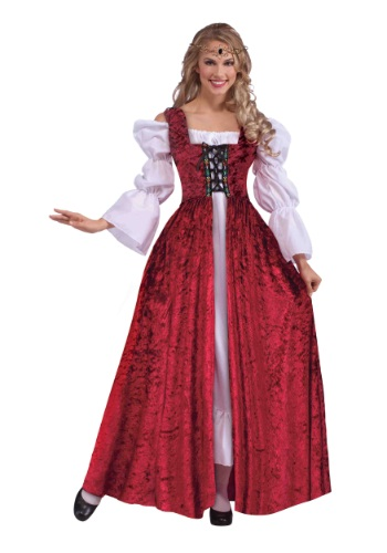 Plus Size Womens Medieval Lace Up Gown