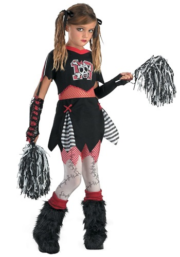 Click Here to buy Kids Gothic Cheerleader Costume from HalloweenCostumes, USA Funds & Shipping